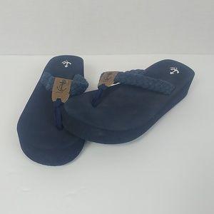 J. Crew size 6 Soft Wedge Flip Flops